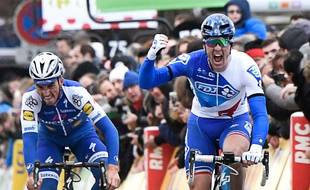 Arnaud Démare, à l'arrivée de la première étape du Paris-Nice