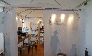 Le FabLAB d'Air Paca, ici en exposition extérieure, est une première en France.