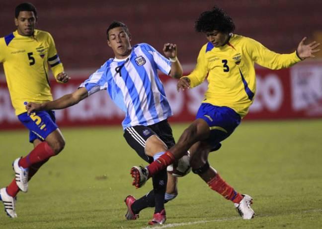 Rogelio Funes Mori avec l'équipe argentine des moins de 20 ans.