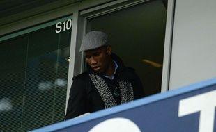 Didier  Drogba assiste à un match entre Chelsea et Sunderland le 19 décembre 2015.