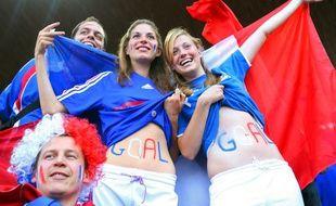 Des supporters des Bleus.