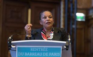 Christiane Taubira au palais de Justice de Paris le 11 décembre 2015.