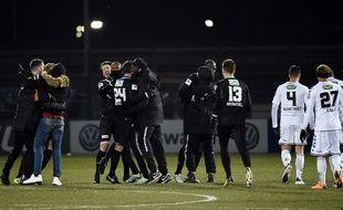 Les joueurs de Chambly ont éliminé Strasbourg en quarts de finale de la Coupe de France.