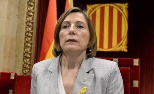 La présidente indépendantiste du Parlement régional de Catalogne Carme Forcadell