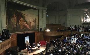 François Hollande à la Sorbonne.
