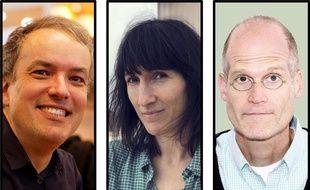 De gauche à droite : Emmanuel Guibert, Catherine Meurisse et Chris Ware
