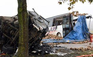 Un accident entre un car scolaire et un camion a eu lieu près d'Arras le 14 novembre 2016