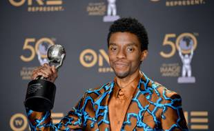 L'acteur Chadwick Boseman lors des 50e NAACP Image Awards
