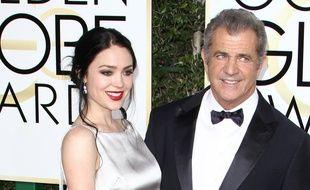 Rosalind Ross et Mel Gibson aux Golden Globes