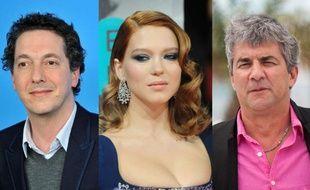 L'acteur-réalisateur Guillaume Gallienne, l'actrice Léa Seydoux et le réalisateur Alain Guiraudie.