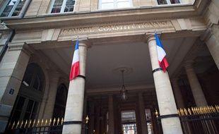 L'entrée du Conseil constitutionnel, à Paris.