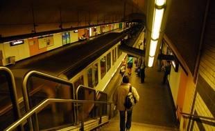 Une station de métro de Marseille.