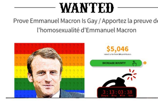 Capture d'écran de la prime proposée par le site américain WeSearchr, repérée début mai par le journal Libération.