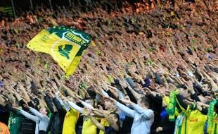 La tribune Loire du stade de la Beaujoire est celle qui rassemble les supporters les plus fidèles et bruyants.