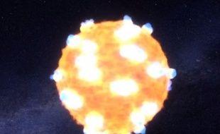 Une explosion d'étoile reconstituée par la Nasa.