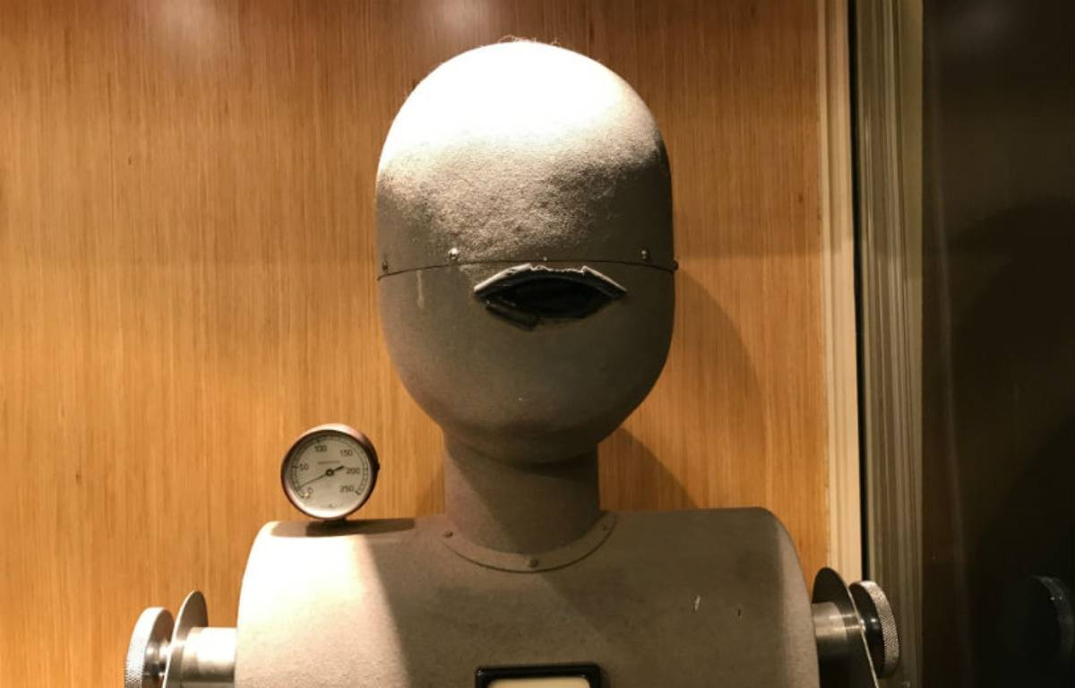 Dans les années 50, cette bouche artificielle servait à tester les capsules microphoniques des abonnés. – CHRISTOPHE SEFRIN/20 MINUTES