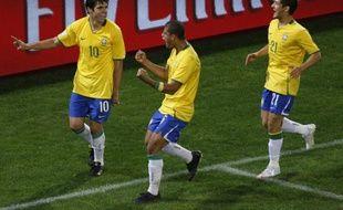 Kaka célébre son but contre l'Egypte, le 15 juin 2009