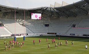 Le nouveau stade Jean Bouin vu de l'intérieur, le 28 août 2013