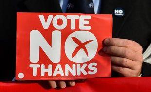 """Un partisan du """"Non"""" au référendum sur l'indépendance de l'Ecosse,le 16 septembre 2014 à Edimbourg"""