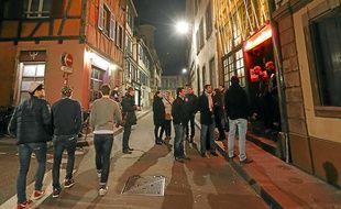 La nuit au centre-ville de Strasbourg (illustration.
