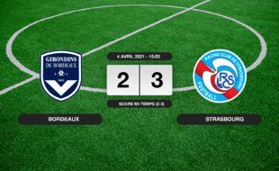 Bordeaux - RC Strasbourg: Le RC Strasbourg s'impose à l'extérieur 2-3 contre Bordeaux