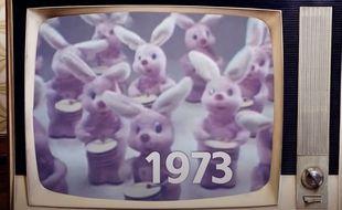 La saga au lapin rose de Duracell depuis 1973.