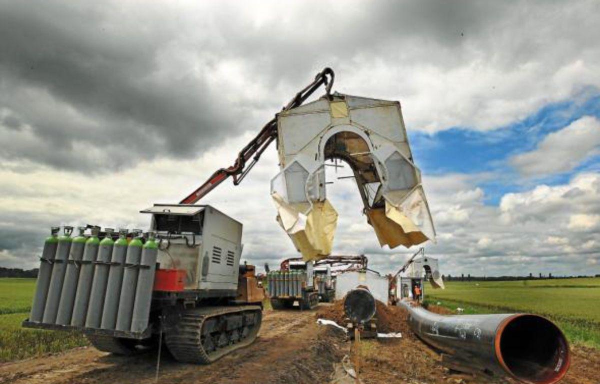 Environ 500 ouvriers travaillent sur le chantier du gazoduc au plus fort de l'activité. Parmi eux, 120 sont issus du marché de l'emploi local. –  M. Libert / 20 Minutes