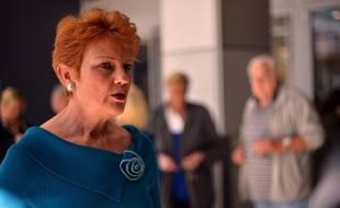Pauline Hanson, sénatrice australienne d'extrême-droite en 2013.
