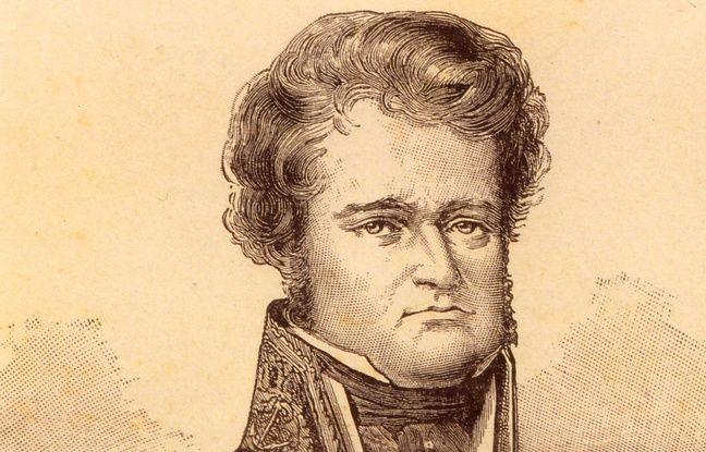 Portrait de Jules Dumont d'Urville, explorateur français, qui a découvert les terres de l'antarctique en 1837, nommées ensuite Terre Adélie