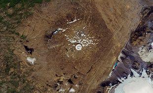 Le glacier disparu Okjökull, en Islande.