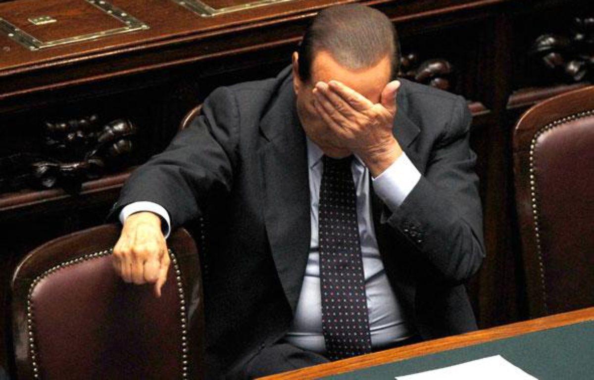 Le Premier ministre italien Silvio Berlusconi au Parlement, Rome, le 29 septembre 2010. – A. BIANCHI / REUTERS