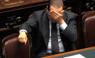Le Premier ministre italien Silvio Berlusconi au Parlement, Rome, le 29 septembre 2010.