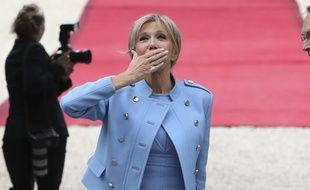 Brigitte Macron à l'Elysée le dimanche 14 mai 2017