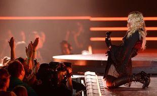 Madonna en concert à Saint Paul (Minnesota),le 8 octobre 2015.