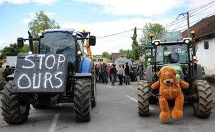 Lors d'une manifestation contre les ours en Béarn (archives).