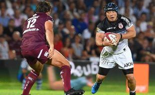 Takeshi Hino, le talonneur du Stade Toulousain, lors du match de Top 14 à Bordeaux face à l'UBB, le 24 août 2019.