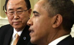 Ban Ki-moon et Barack Obama à Washington le 11 avril 2013.