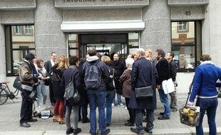 Plusieurs électeurs radiés s'étaient donnés rendez-vous devant le tribunal d'instance de Strasbourg ce mardi à 10h avant de se pourvoir en cassation.