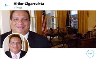 Hitler Cigarruista, journaliste panaméen de 50 ans, a pu ouvrir un compte sur Twitter et Linkedin, mais pas sur Facebook et Google.