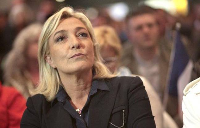 Marine Le Pen à Hénin-Beaumont (Pas-de-Calais) le 4 juin 2012.