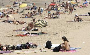 La plage centrale d'Arcachon, en Gironde.