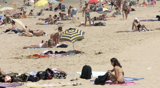 La plage centrale d'Arcachon, en Gironde.  – MICHEL GANGNE / AFP
