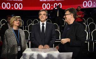 François Fillon dans «Le Grand Débat» sur  BFMTV et CNEWS, le 4 avril 2017.