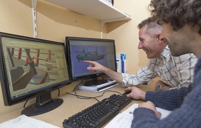 Jacques Barreau de la société Grain de Sail, ici lors du travail sur le projet de cargo à voile.