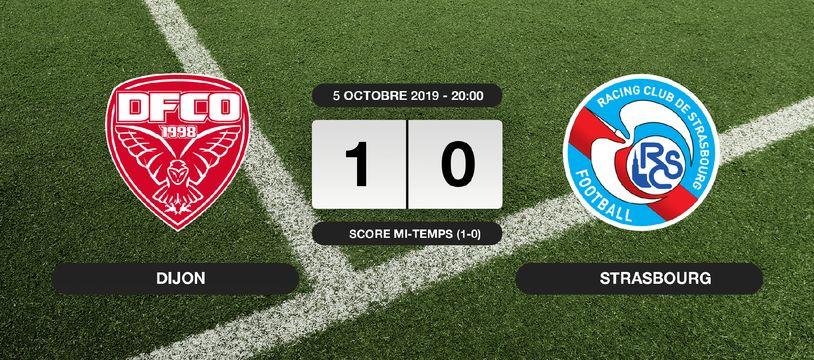 Ligue 1, 9ème journée: 1-0 pour Dijon contre le RC Strasbourg au stade Gaston-Gérard