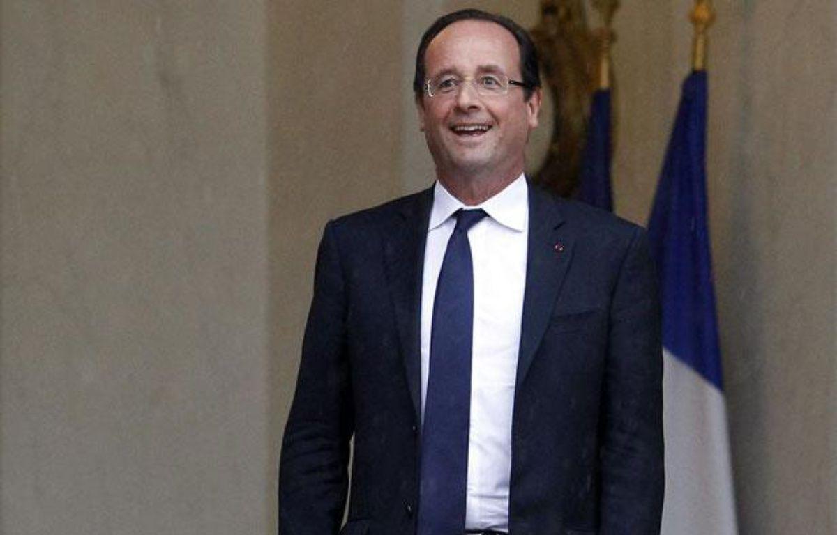 François Hollande sur le perron de l'Elysée, à Paris, le 7 juin 2012. – CHESNOT/SIPA