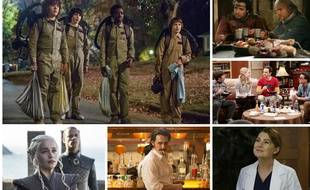Photos extraites des séries « Stranger Things », « Kaamelott », « The Big Bang Theory », « Grey's Anatomy », « The Deuce » et «Game of Thrones ».