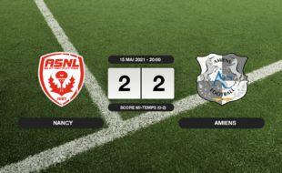 Ligue 2, 38ème journée: Nancy et Amiens font match nul 2-2