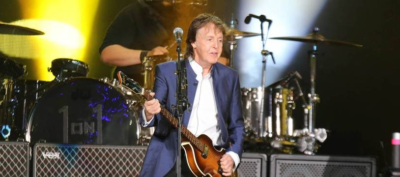 Paul McCartney sur la scène du Desert Trip