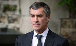 Paris, le 3 juin 2013. Jérôme Cahuzac assiste aux obsèques de son ami Guy Carcassonne.